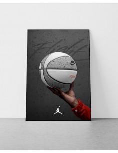 poster ballon de basket jordan 4 cement