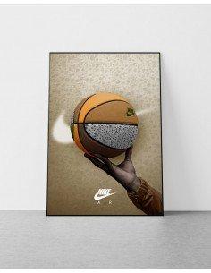 poster ballon de basket air max 1 safari