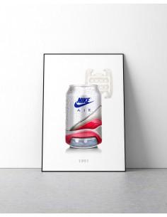poster canette nike air max 180 ultramarine