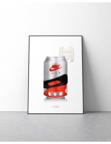 poster canette nike air max 90 infrared