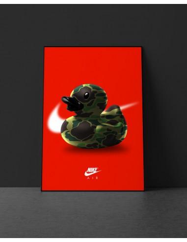 poster canard nike air max 90 duck camo
