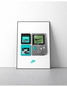 poster game boy nike elephant