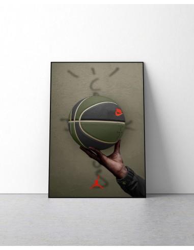 poster ballon de basket jordan 6 travis scott