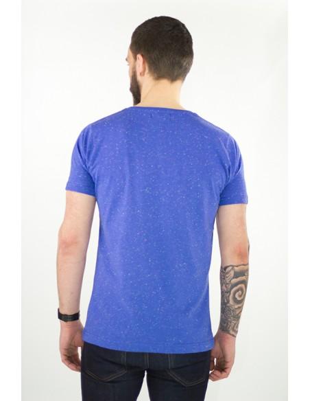 t-shirt bleu tacheté