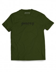 T-SHIRT FSKORP BLACKLETTER KAKI