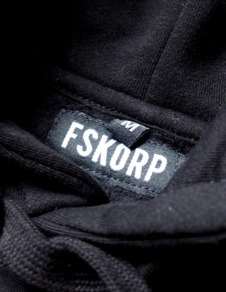 HOODIE NOIR BLACK LETTER FSKORP