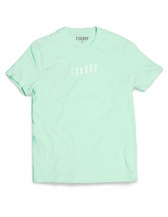 t-shirt turquoise homme wave