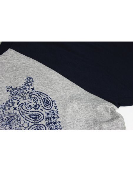 t-shirt motif paisley cachemire pour homme