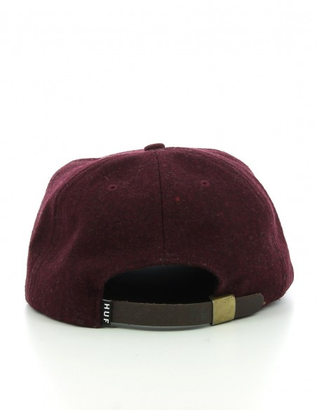 HUF 6 PANEL TWEED BORDEAUX